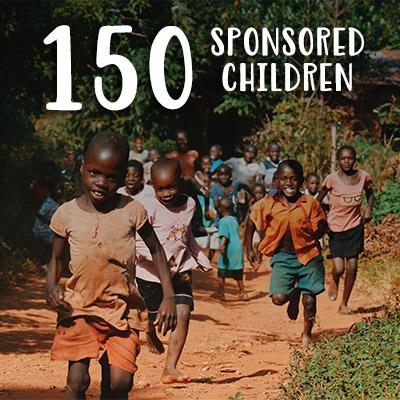 We've Reached A Milestone:<br> 150 Sponsored Children
